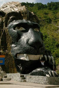 Ground-level photo of the Lion's Head along Kennon Road in Baguio City