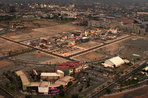 Aerial photo of Bonifacio High Street in Fort Bonifacio Global City, Taguig