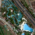 Satellite image of Splash Island in Biñan, Laguna.
