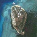 Satellite image of the Dos Palmas Arreceffi Island Resort in Honda Bay, Puerto Princesa City, Palawan.