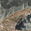 Satellite view image of the Sangley Point Naval Base in Cavite City.