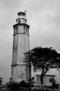Ground-level photo of the famous Liloan Lighthouse.