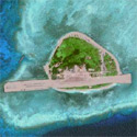 Satellite Image of Pag-asa Island (Thitu Island) of the Spratlys in the South China Sea.