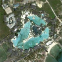 Satellite image of Plantation Bay Resort in Lapu-Lapu City, Cebu.