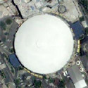 Satellite image of the Araneta Coliseum in Cubao, Quezon City.