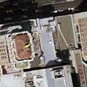 Satellite image of the Philippine Center buildings in San Francisco, California.