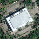 Satellite image of the Manila Film Center at the CCP Complex in Pasay City.