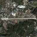 Satellite image of Loakan Airport in Baguio City.