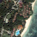 Satellite image of the Alegre Beach Resort in Sogod, Cebu.