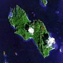 Satellite image of Lagen Island in Palawan.