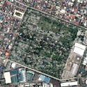 Satellite image of the Manila South Cemetery within Makati City.