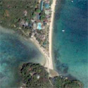 Satellite image of the Sandbar Beach Resort in Puerto Galera.