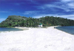 Photo of the sandbar at Puerto Galera