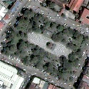 Satellite image of the Bacolod City Public Plaza.