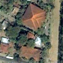Satellite image of the Marcos Museum and Mausoleum in Batac, Ilocos Norte.