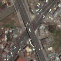 Satellite view image of the Zapote Flyover in Las Piñas City.