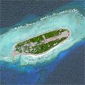 Satellite image of Ligao Island (aka Itu Aba Island, Taiping Island)
