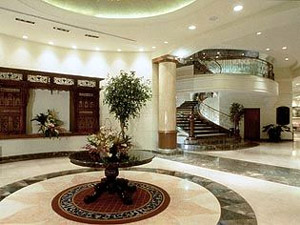 Lobby of the Marco Polo Hotel in Davao City.
