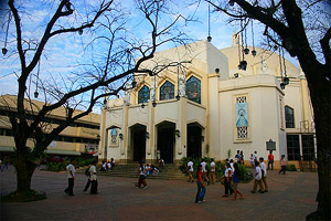 Facade of the Antipolo Cathedral.