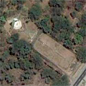 Satellite image of the old Death March Monument in Capas, Tarlac.