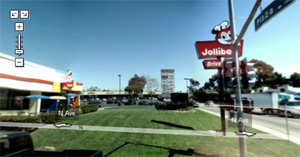Screenshot of the Google Maps Street View image for Jollibee National City.