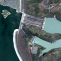 Satellite image of a portion of Magat Dam in Ramon, Isabela (and Alfonso Lista, Ifugao).