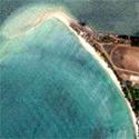 Satellite image of Capusan Beach in Cuyo, Palawan.