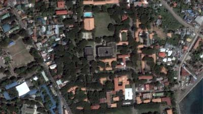 Screenshot of Google Earth showing Silliman University.