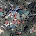 Satellite image of the Bell Church in Baguio City.