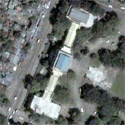 Satellite image of the Provincial Capitol Building of Negros Occidental.