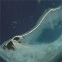 Satellite image of Snake Island in Honda Bay, Puerto Princesa, Palawan.