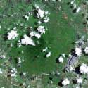 Satellite image of Mount Arayat in Pampanga.