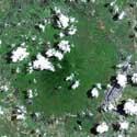 Satellite image of Mount Arayat in Pampanga.