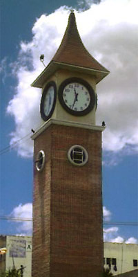 Ground-level photo of the Baliuag Clock Tower.