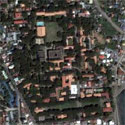 Satellite image of the Silliman University campus in Dumaguete City, Negros Oriental.