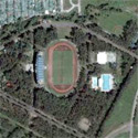 Satellite image of the Panaad Park and Stadium in Bacolod City.