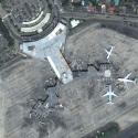 Satellite image of NAIA Terminal 1 in Parañaque City.