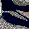 Satellite image of the Napindan Hydraulic Control Structure along Pasig River
