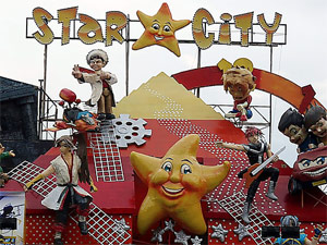 Cheerful entrance motif to Star City