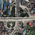Satellite image of the Balintawak Cloverleaf in Quezon City