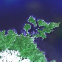 Satellite image of Puerto Galera in Oriental Mindoro.