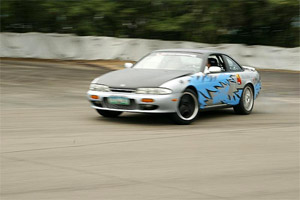 Drift champ Lance Feliciano demonstrating drifting at the Subic International Raceway