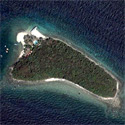 Satellite image of Culebra Island, home of the Bonito Island Resort, in Tingloy, Batangas