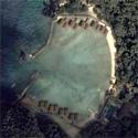 Satellite image of Lagen Island Resort in El Nido, Palawan