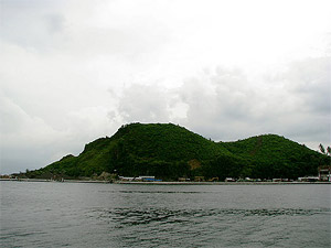 Seaside photo of the Kapuntukan Hill