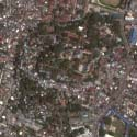 Satellite view of the Philippine Constabulary (P.C.) Hill in Cotabato City