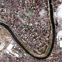 Satellite image of Provident Village in Marikina City