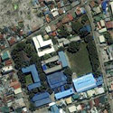 Satellite image of the Ateneo de Zamboanga University in Zamboanga City