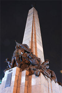 Photo of the Bonifacio Monument from the base