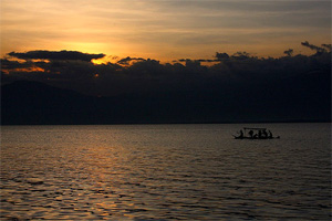 Sunset over Davao Gulf from Punta Dumalag